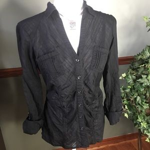 MAURICE'S M Black Button Up